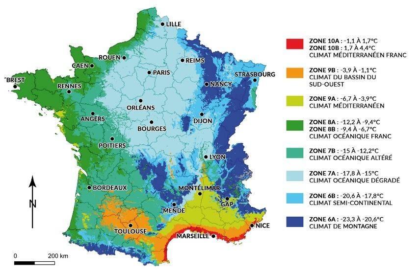 carte climat usda